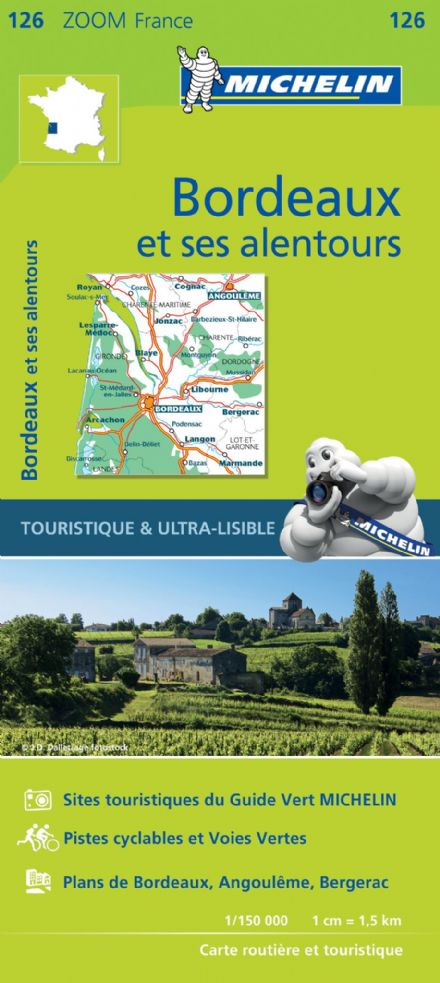 Map 126 - Bordeaux & surrounding areas